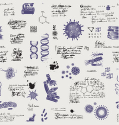 seamless pattern on a scientific theme vector image