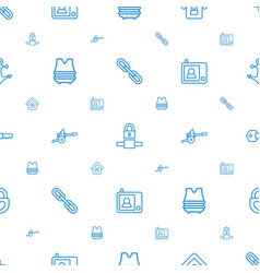 Security icons pattern seamless white background vector