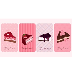 Set of banners with sweet cakes vector