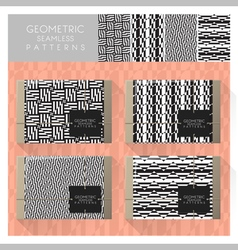 Set of geometric seamless pattern 9 vector