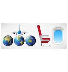 set of travel element vector image