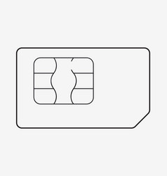 sim card phone chip realistic icon isolated vector image