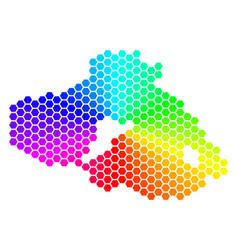 Spectrum hexagon greek lesbos island map vector