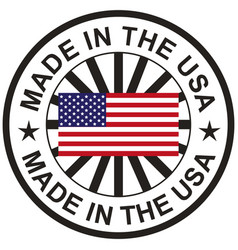 stamp with flag usa made vector image
