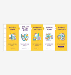 Storehouse onboarding template vector