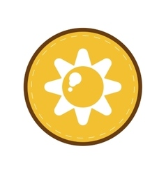 Sun energy natural symbol design yellow circle vector