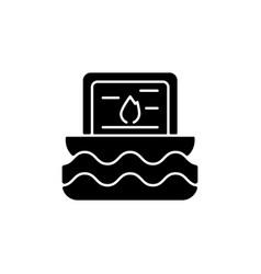 Taiwan water lanterns black glyph icon vector