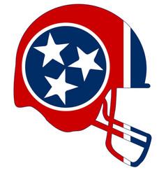 Tennessee state flag football helmet vector