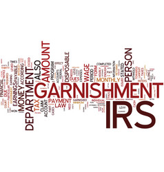 The irs levy and legal powers of garnishment vector