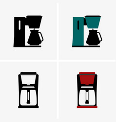 Thermal carafe coffee maker vector