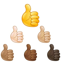 Thumbs up hand emoji vector