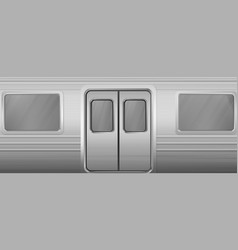 train wagon with windows and closed doors vector image