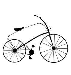 Victorian retro bicycle silhouette isolated on vector