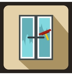 Window cleaning icon flat style vector image