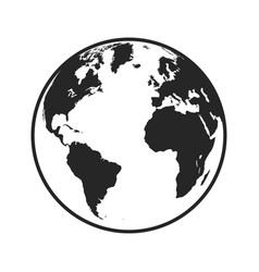 world planet earth isolated icon design vector image