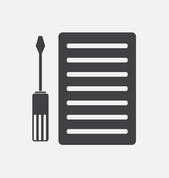 Black icon on white background radiator grille vector