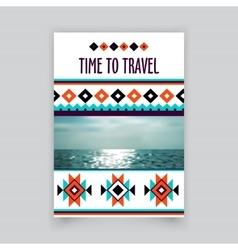 Brochure corporate blank template Tribal vector image