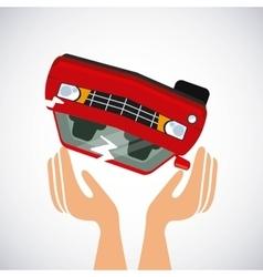 car insurance concept icon vector image