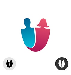 Couple in love logo vector image