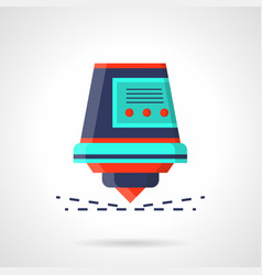 Industrial laser with sparks flat icon vector