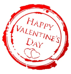 valentines day stamp vector image vector image