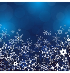 Winter background with ornate snowflakes vector image vector image