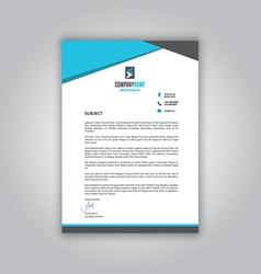 business letterhead 1008 vector image vector image