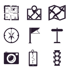 Map and Location Icons set vector image vector image