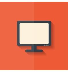 Monitor web icon Computer display Flat design vector image