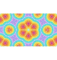 Rainbow colors dotted art seamless pattern tile vector image vector image