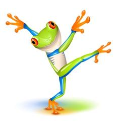 tree frog dance vector image vector image