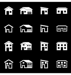 white house icon set vector image vector image
