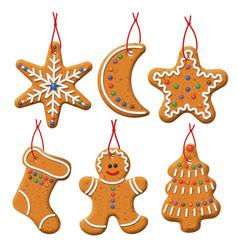 Christmas gingerbread set vector