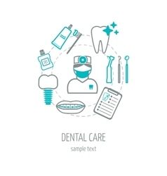 Dental clinic banner background poster concept vector image vector image