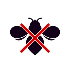 No Insects Symbol vector image vector image