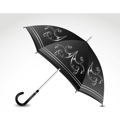 Ornamental black umbrella vector image vector image