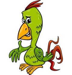 parrot bird cartoon vector image vector image