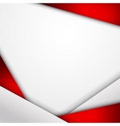Abstract background of red and white origami paper vector image