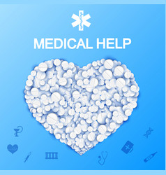 abstract medical help template vector image