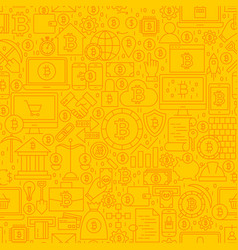 bitcoin yellow line tile pattern vector image vector image