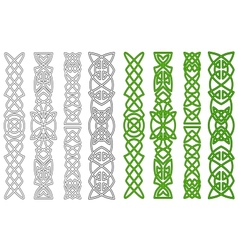 Celtic ornaments and elements vector image