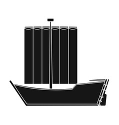 sailboat the boat sails from the wind water vector image vector image