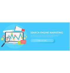 search engine marketing banner vector image