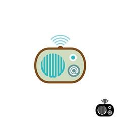 Web radio symbol vector image