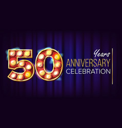 50 years anniversary banner fifty vector image