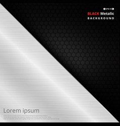 Abstract aluminum fiber black solid background vector