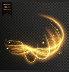 Abstract golden transparent light effect vector