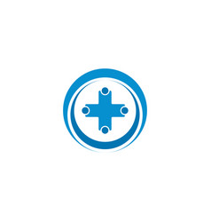 abstract healthcare cross logo design concept vector image