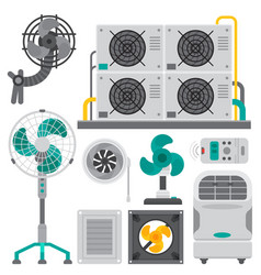 Air conditioner airlock systems equipment vector