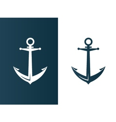 Anchor business modern logo silhouette ship vector